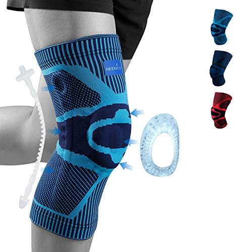 L 1 Pcs Wraps Pads for Arthritis,Running Basketball and More Sports Pain Relief Outdoor Knee Brace Support Compression Sleeve