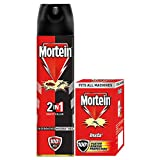 Mortein 2-in-1 Insect Killer Spray- (Red+Black) - 425 ml with Free Insta5 Plug-in Mosquito Repellent Refill - 35 ml