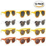Colorful Safari Sunglasses (Pack of 12) by ArtCreativity   Youth Size   Assorted Animal Prints on Good Quality Material   Summer Time Fun   Great Party Favor   Amazing Gift Idea for Boys-Girls Ages 3+