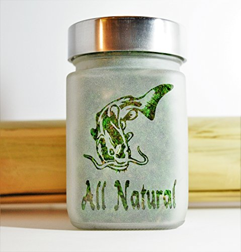 Twisted420Glass Fish All Natural Etched Glass Stash Jar