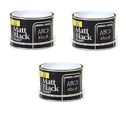 3 x negro mate - PINTURA para pizarras (180 ml) - Cisne ...