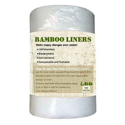 LBB™ de madera de bambú Biodegradable Flushable bolsa de pañales para pañales de trazadores de