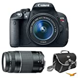 Canon EOS Rebel T5i Digital SLR Camera with Ef-s 18-55mm Is STM + 75-300mm Lens For Sale