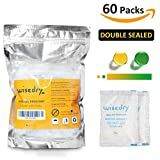 5 Gram [60 PACKS] /10 Gram x [30 PACKS] Silica Gel Desiccant Packets with Orange Beads Humidity Of Safe Double Packed for Air Dryer Moisture Removal Food Grade,Stupid Labeling Mistake
