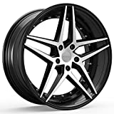 5 lug 22 inch rims - Rosso REACTIV 701 Gloss Black/Machined Wheel with Machined Finish (22x8.5