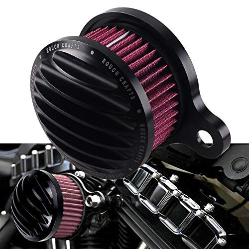 spike turbine AIR CLEANER cover for harley XL883L SuperLow XL883N Iron 883 09-19 red filter