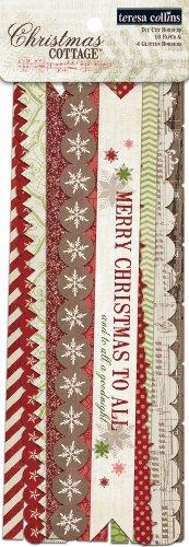 Teresa Collins Designs Christmas Cottage Border Strips Teresa Collins Christmas