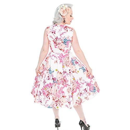 Heavenly Anni Vintage Svasato Roses London Retrò Stile 1950s Hearts Floreale '50 amp; Vestitino qpttB6