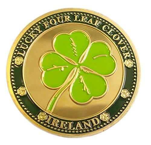 Carrolls Irish Gifts Collectors Edition Lucky Four Leaf Clover Design Token