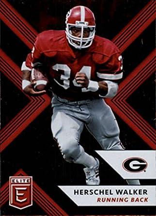 2018 Panini Elite Draft Picks  50 Herschel Walker Georgia Bulldogs Football  Card 3da4fde71