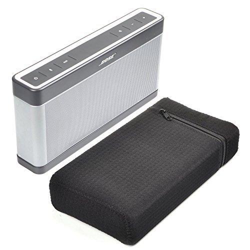 Bose SoundLink III Case - CASETIME Portable Water-Resistant Lycra Zipper Carry Bag Travel Case Cover Protective