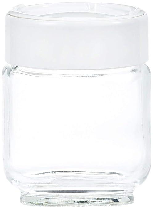 Moulinex A14A0 - Tarro para yogurt casero, libre de BPA, apto para lavavajillas, 160 ml, 7 unidades, vidrio, blanco/transparente