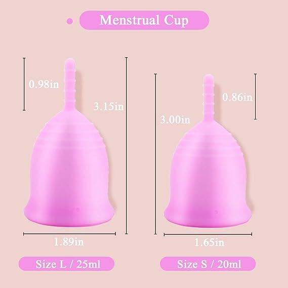 Cómoda copa menstrual para mujeres periodo taza con taza ...