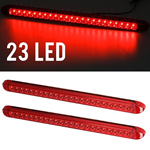"""Partsam 2pcs 17"""" 23 LED Red Trailer Truck RV Stop Tail Rear"""