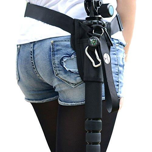 Egoelife Portable Monopod Holder Bag Waist Bag With Hook   Waist Belt Strap Black
