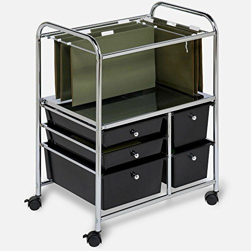 Rolling Drawer Organizer Cart Cabinet Organizer Rails Open Rolling Metal Mobile Large Home Storage Laundry Office Tall & eBook by MSS by STS SUPPLIES LTD