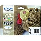 Epson C13T06154010 Pack de 4 Cartouches d'encre d'origine compatible avec Imprimante DX3850 Multicolore