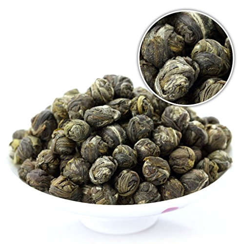GOARTEA 500g (17.6 Oz) Organic Premium Jasmine Dragon Pearl Ball Loose Leaf Chinese Green TEA ON SALE