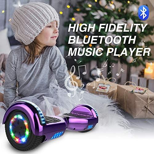 GeekMe Gyropode 6.5 Pouce avec hoverkart Scooter électrique Auto-équilibré Bluetooth Intégré Moteur 700W pour Enfants et Adultes…