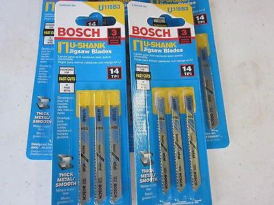 "5 PACKS 15 BLADES BOSCH U118B U-SHANK 2-3/4"" HSS JIGSAW BLADES 14-TPI METAL ~784 from Bosch"