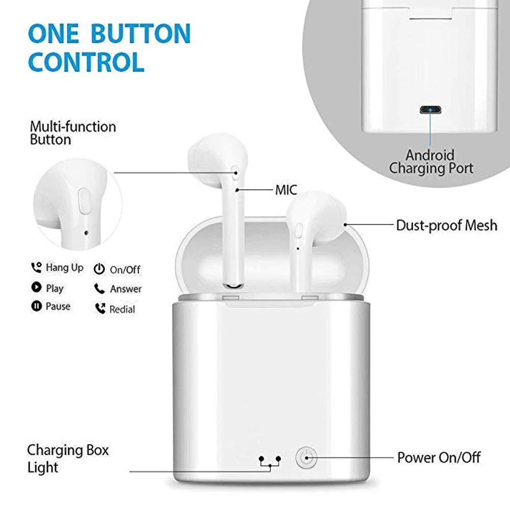Deportes Auriculares Bluetooth en la Oreja (in-Ear), Micrófono Incorporado, Reducción de Ruido.Auriculares Bluetooth Compatible con Todos los Smartphones ...