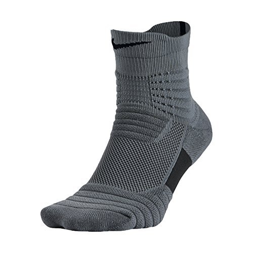 Nike Boy's Elite Versatility Mid Socks Grey/Black SX5370-065 Size Small 3-5Y by NIKE