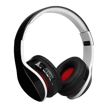 Distinct® Auriculares inalámbricos recargables Bluetooth sobre el oído Auriculares estéreo con micrófono Auriculares plegables para