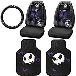 5pc nightmare before christmas jack skellington graveyard nbc auto accessories. Black Bedroom Furniture Sets. Home Design Ideas