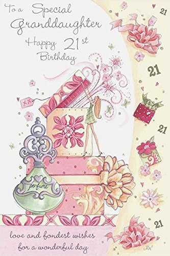 Granddaughter 21st Birthday Card Amazoncouk Kitchen Home