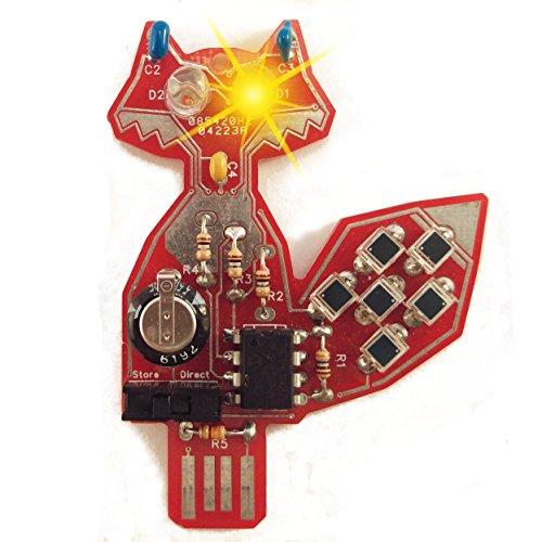 Intermediate Soldering kit, Solar Powered LED - Iron Pendant Amber