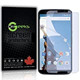 CitiGeeks® Google Nexus 6 High Definition (HD) Screen Protectors - [Anti-Glare] Screen Protector with Maximum Clarity and Accurate Touch Screen Sensitivity [3-Pack] Fingerprint Resistant Semi-Matte with Lifetime Warranty.
