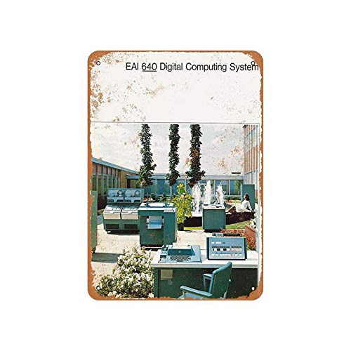Anbiz EAI 640 Digital Computer Retro Vintage Tin Metal Sign 8X12 Inches