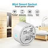 Potensic Smart Plug Wi-Fi Enabled Mini Smart Switch Wireless Outlet Compatible with Alexa & Google Home, No Hub Required, Switch On/Off your electric equipment from Anywhere, T