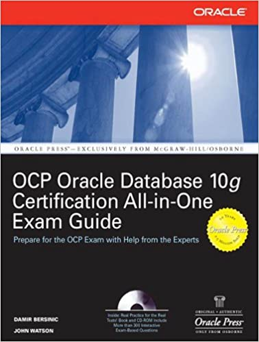 Amazon com: Oracle Database 10g OCP Certification All-In-One