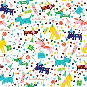 barkday birthday gift wrapping paper roll 24 x
