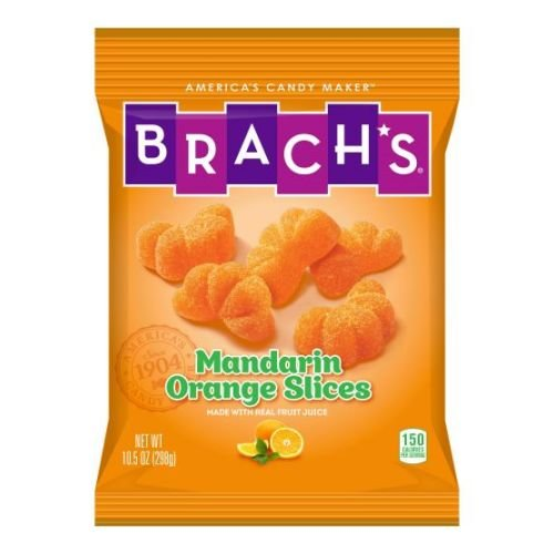 Brachs Mandarin Orange Slice Candy, 10.5 Ounce - 12 per case. by Brach's