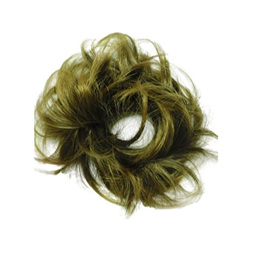 Put On Synthetic Hair Piece Extension Wrap Scrunchie Bobble Band - 32BRE Chestnut Brown
