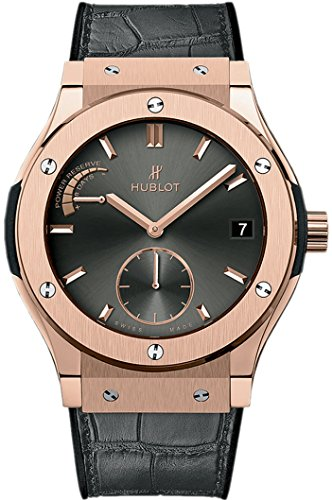 Hublot 18ct Rose Gold Classic Fusion Power Reserve 45mm Mens Watch