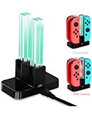 OIVO 4 in 1 Switch Controller Charger Compatible with Nintendo Switch, Joy-Cons Charging Dock Station with 4 Charging Dock Station with LED Indication for Nintendo Switch (X01)