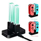 DOBE Switch Controller Charger for Nintendo Switch, Joy-Cons Charging Dock Station with 4 Charging Dock + LED indication Review