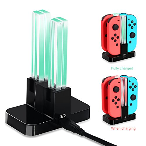 - Joy-Con Charging Dock for Nintendo Switch, OIVO Joy con Controller Charging Station for Nintendo Switch- USB C Cable Included