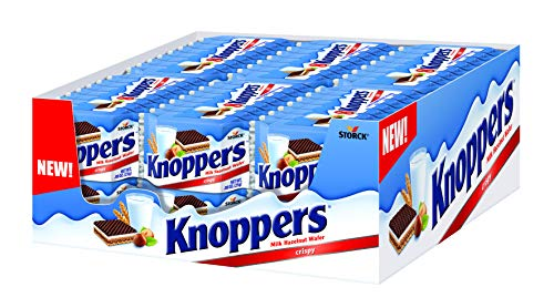 Hazelnut Filling - Knoppers, Chocolate Wafer, Healthy Snack, 7.05 Ounce, (Pack of 8)