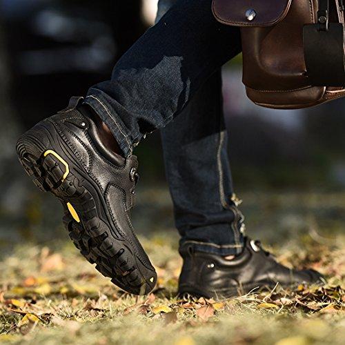 Schwarz UK Miyoopark Größe Schnürhalbschuhe Herren 38 XCR9766 EU Schwarz ORwRXf