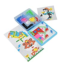 Newlemo 490 Pc Pegboard Jigsaw Puzzle Game Kids Mosaic Puzzle Toys for Kids over 3 Years Old