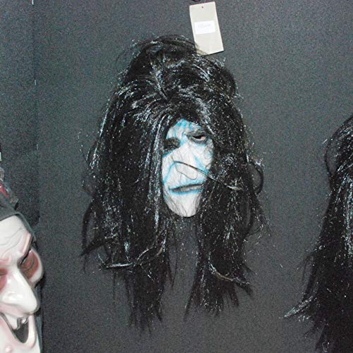 Urban Living 700054 Horror Halloween Mask with Hair for Adults, Unisex, Multi-Colour ()