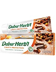 Dabur Herbal Clove Toothpaste with Toothbrush, 150 gm
