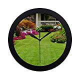 simple landscaping ideas Modern Simple Front Yard And Backyard Landscaping Ideas Designs Pattern Wall Clock Indoor Non-ticking Silent Quartz Quiet Sweep Movement Wall Clcok For Office,bathroom,livingroom Decorative 9.65 Inch