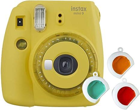 Fujifilm Instax Mini 9 - Cámara instantanea, solo cámara, Amarillo ...