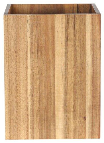 Wood Wastebasket (Ravine Solid Acacia Wastebasket)