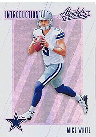 a60b6c296a5 2018 Absolute Football Introductions #13 Mike White Dallas Cowboys Official  NFL Trading Card made by